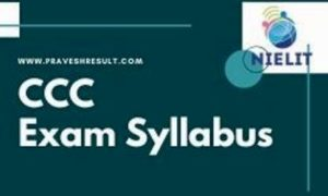 CCC Syllabus | NIELIT Computer Course Syllabus & Exam Pattern [PDF]