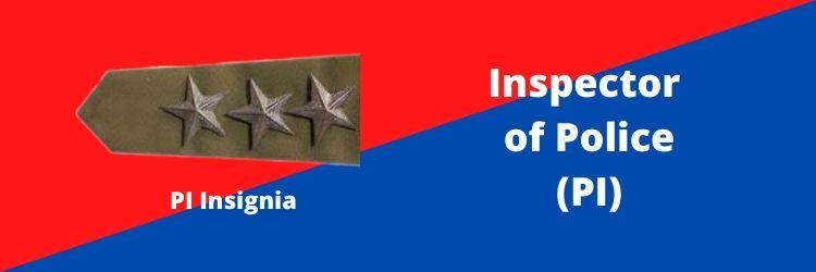 Inspector of Police (PI) Rank Insignia