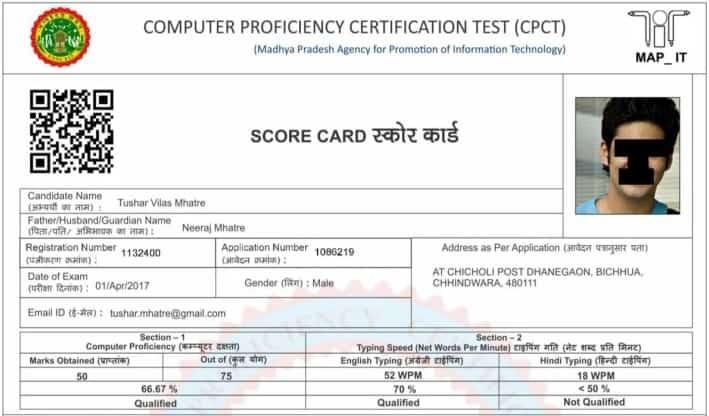 MP CPCT Score Card