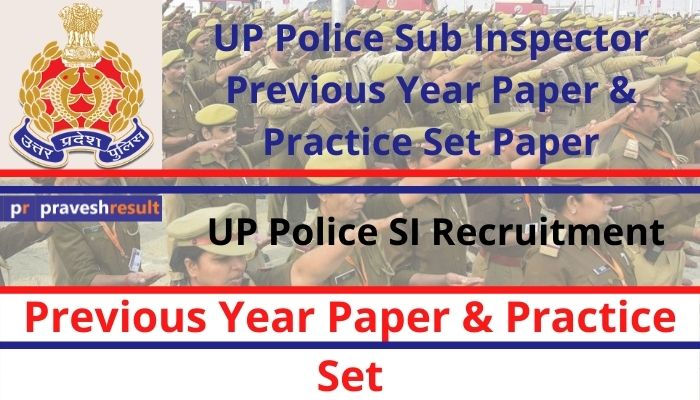[PDF] Free Download UP Police SI Previous Year Paper and Practice Sets