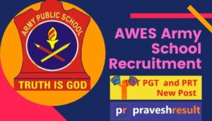 Apply Online | Army School (AWES) TGT PGT & PRT 2020