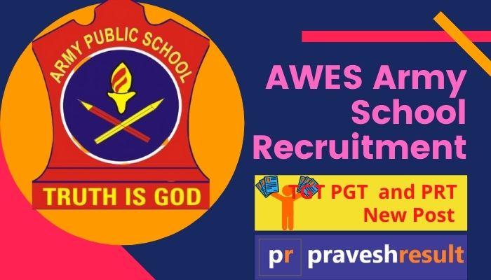 Apply Online   Army School (AWES) TGT PGT & PRT 2020