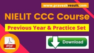 [PDF] Free Download NIELIT CCC Question Paper & 15+ Model Papers