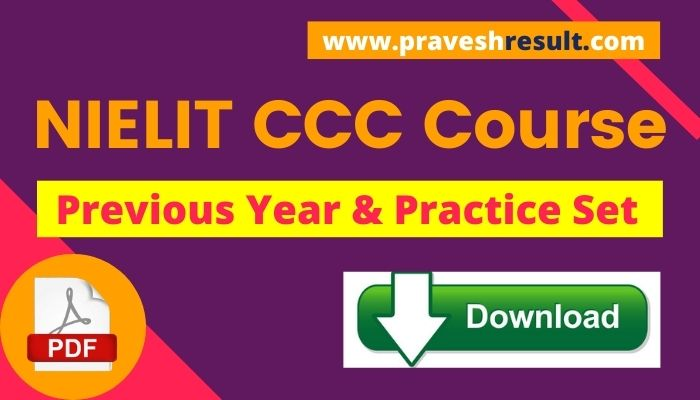[PDF] Download NIELIT CCC Question Paper & 15+ Practice Sets