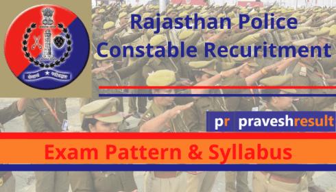 Rajasthan Police Constable Exam Pattern & Syllabus PDF