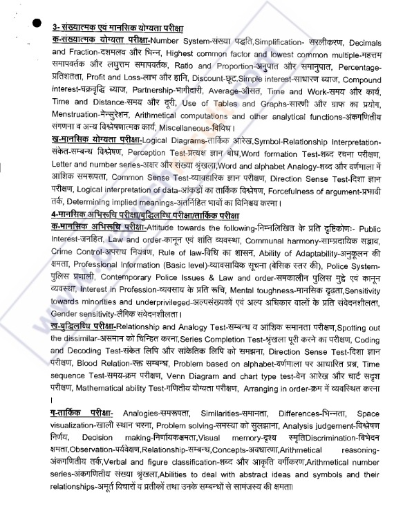 UPSI Syllabus Moolvidhi, Reasoning PDF