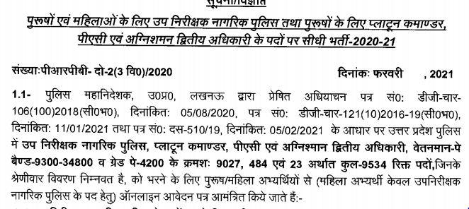 UPSI Vacancy 2021 Notification PDF
