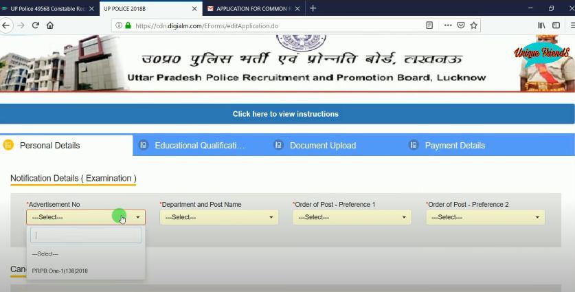 UPSI Vaccancy Form Personal Details